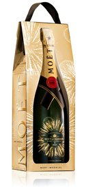 Moet & Chandon Champagne Bursting bubbles GB