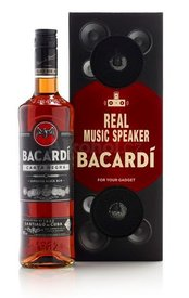Bacardi carta negra 0,7l + MUSIC BOX